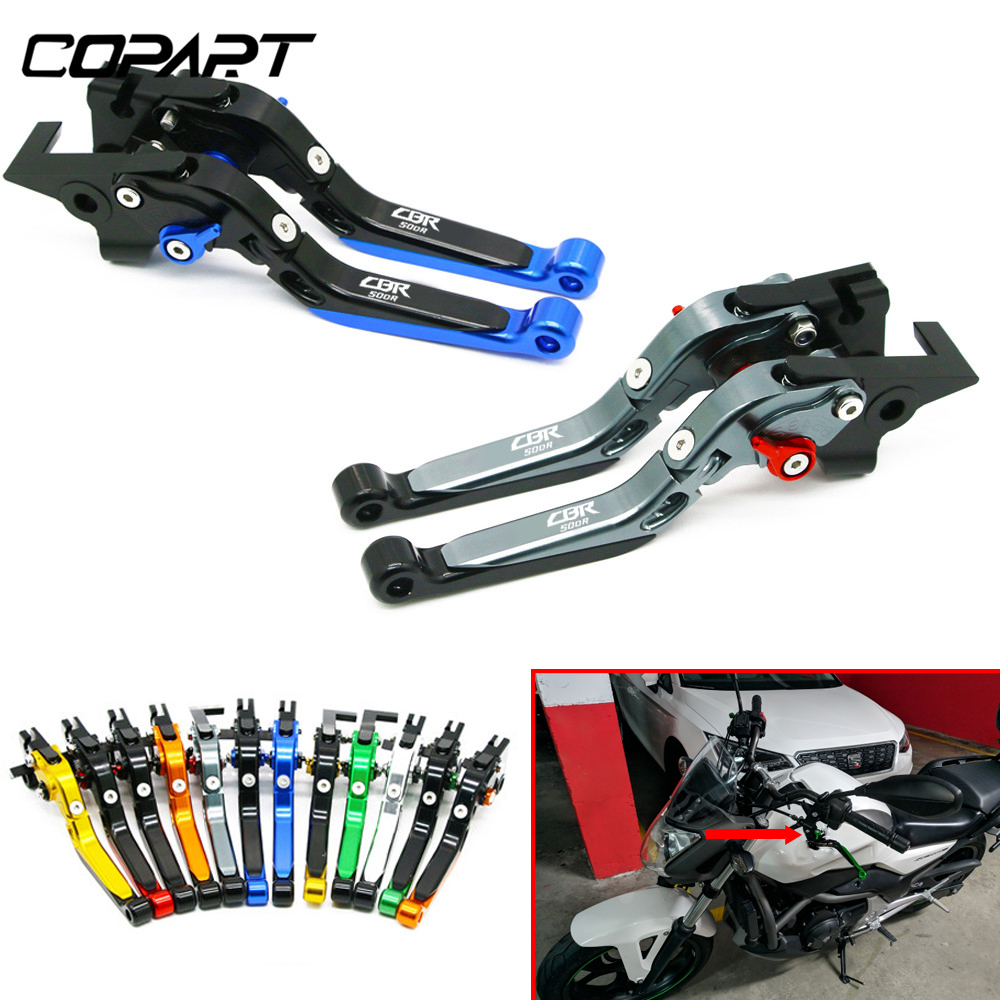 For Honda <font><b>CBR500R</b></font> CBR500 R CBR 500 R CB500F CB500X 2013-<font><b>2018</b></font> Motorcycle Adjustable Folding Extendable Brake Clutch Levers image