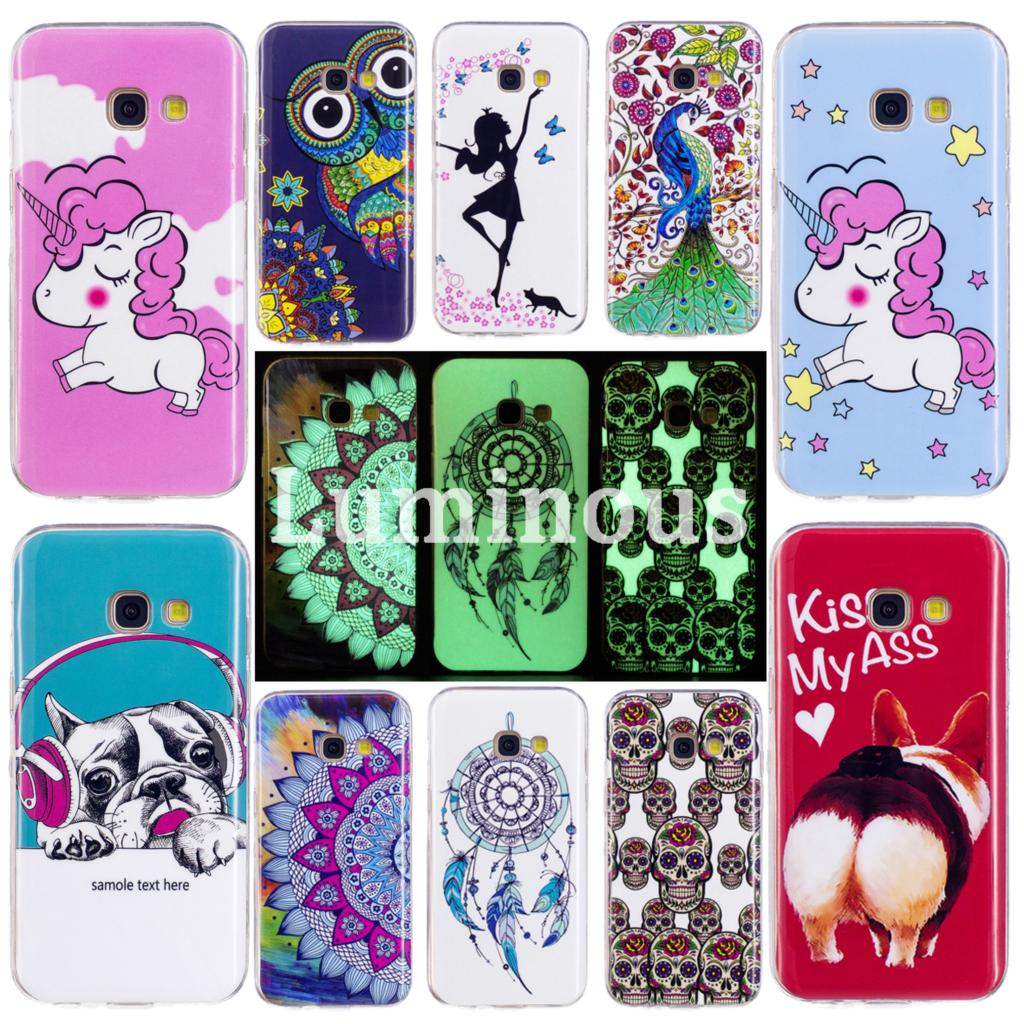 Soft TPU Silicone Cases For <font><b>Samsung</b></font> <font><b>Galaxy</b></font> <font><b>A5</b></font> 2017 A520 A520F Phone Shells For <font><b>Samsung</b></font> A 5 2017 <font><b>520</b></font> 520F Night Shine Back Cover image
