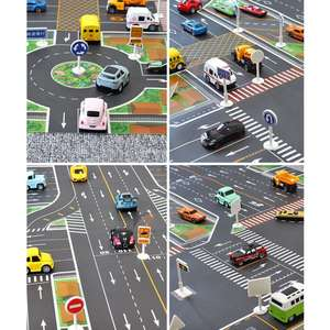 Car Park Traffic Map Mat Highway Kids City Scene Play Mats Educational Toys N1HB