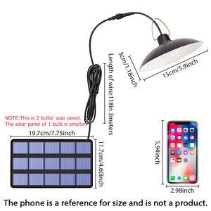 Image 5 - Lampa słoneczna LED żarówka sufitowa ganek słoneczny żyrandol z przewodem 9.8FT lampa słoneczna do oświetlenia ogrodu