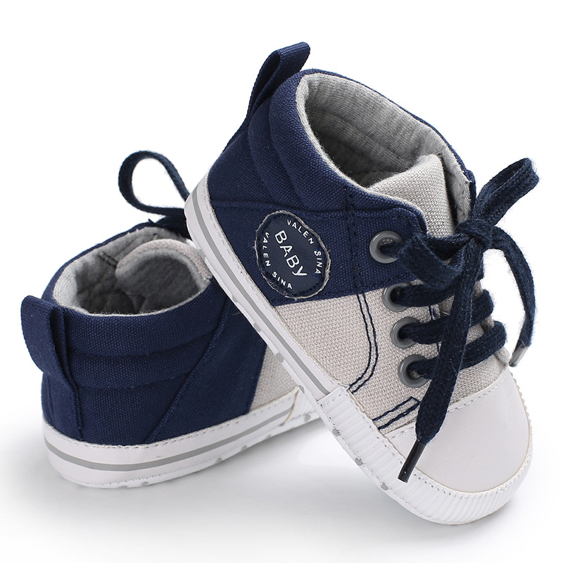 Canvas Baby Shoes For First Walker Newborn Baby Girl Boy Shoes Soft Sole Non-Slip Infant Toddler Girls Tenis Shoes Baby Schoenen