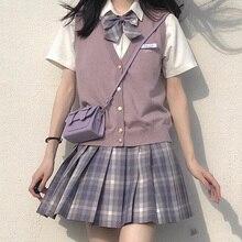 [Black Currant] Girl's Summer High Waist Pleated Skirts Plaid Skirts Women Elegant JK Uniforms Girl School Dress Student Cloths