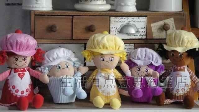 لطيف الطفل كعكة دمية الكعك أفخم دمية فتاة هدية الكريسماس