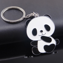 Manufacturers Direct Panda Metal Key Chain Tourist Attractions Advertising Gifts Keychain Logo Wholesale Keyring