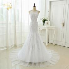 2017 New Arrival Backless Lace Mermaid Wedding Dress Hot Sexy vintage Bridal Gown Vestido de Noiva Renda Plus Size 39001001