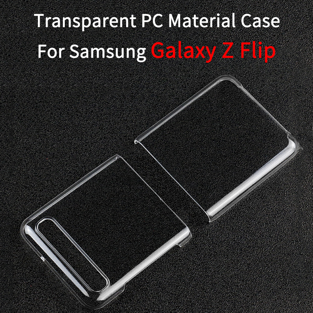 TPU Clear Crystal Flip Case Shockproof Hard Phone Shell for Samsung Galaxy Z Flip Phone Accessories Slim Protective Shell Cover