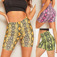 Sexy Womens High Waisted Shorts Snakeskin Pattern Beach Sport Hotpants