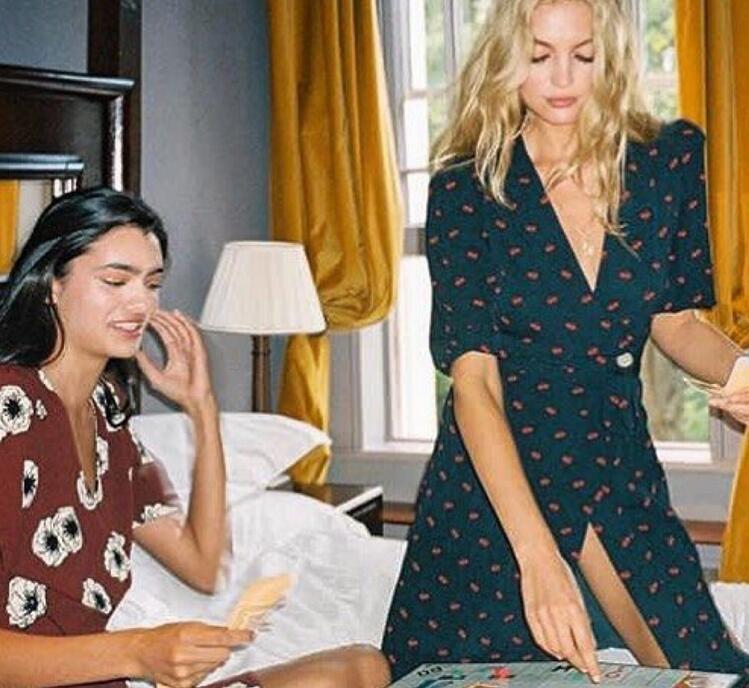 Donna Vestito di Ciliegio Vestito Lungo 2019 Primavera Elegante con scollo a V midi Dress-in Abiti da Abbigliamento da donna su  Gruppo 1