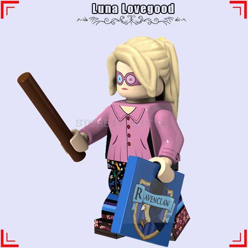 Blocos de construção de Tijolos Filme de Harry Potter Luna Lovegood Snape Figuras Hermione Granger Ron Weasley Lord Voldemort Amigos Blocos Brinquedos