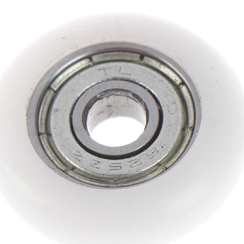 1/5/10 Uds rueda de rodillo de ducha deslizante rueda de repuesto de puerta de plástico diámetro 23mm