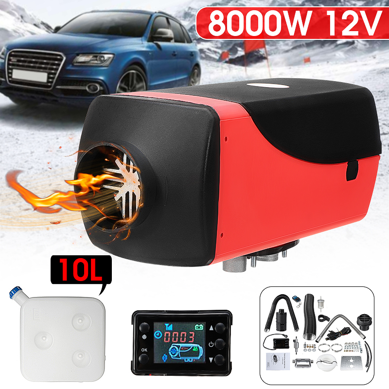 FlowerW Diesel Heater 12V Diesel Air Heater Muffler 8KW Diesel Air Heater with Remote Control /& LCD Thermostat Monitor for Car Trucks Motor-Home Boat and Bus