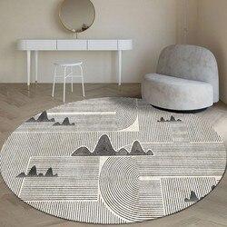 Skandynawskie geometryczne kształt zaokrąglony salon chodnik z nadrukiem  dywan dekoracyjny  dywan hotelowy  INS popularna łysy podłogowe