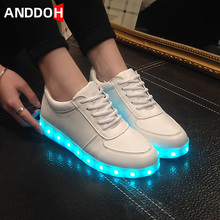 Size 30-41 Children Led Casual Shoes Boys Girls Sneakers with Light Kid