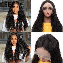 Pelucas Malasio de ondas profundas para mujeres, pelucas de ISEE HAIR Remy 130% 150% 180% 250% de densidad, pelucas de cabello humano sueltas de onda de encaje profundo
