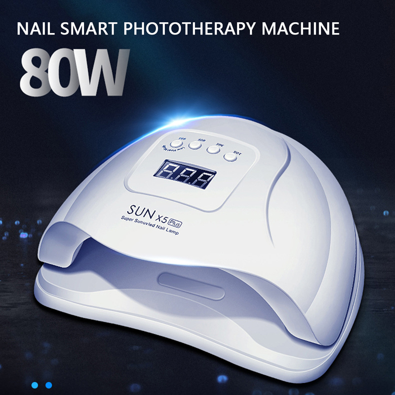 80W SUNX5 Nail Lamp With 36 Leds LED For Manicure Gel Nail Dryer Drying Nail Polish Lamp 30s/60s/90s Auto Sensor Manicure Tools image