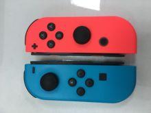 원래 단장 한 90% 뉴 블루 L 왼쪽 및 빨강 R 오른쪽 조이 콘 컨트롤러 NS 닌텐도 스위치 조이 콘 게임 패드 조이스틱
