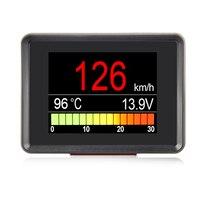 New A203 OBD2 Scanner On Board Computer Diagnostic Tool Coolant Temperature Gauge Voltage Tachometer Speedometer HUD ODB II Scan