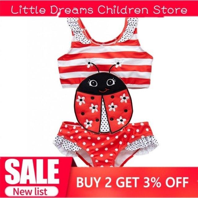 Drop Schiff Baby Bademode One-Piece Badeanzug Kinder Bademode Für Mädchen Bademode Gelbe Biene Badeanzug Baby Bikini Cartoon sonne Anzug