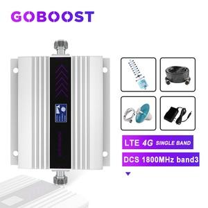 Image 1 - Repeater DCS 1800MHZ 4G Zellulären Signal Verstärker LCD Display Handy Signal Booster Yagi + Decke Antenne Koaxial kabel