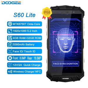 Image 2 - DOOGEE S60 Lite 5.2 Inch Smartphone IP68 Waterproof Quad Core 4GB 32GB Android 8.1 Cellphone LTE Rugged Tough Mobile Phone NFC
