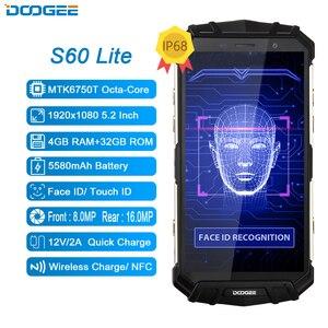 Image 2 - DOOGEE S60 Lite 5.2 pouces Smartphone IP68 étanche Quad Core 4GB 32GB Android 8.1 téléphone portable LTE robuste dur téléphone portable NFC