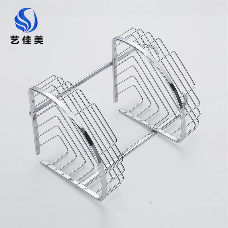 304 Stainless Steel Bathroom Rack Triangle Basket Angle Frame Single Double Layer Selectable Bathroom Storage Shelf
