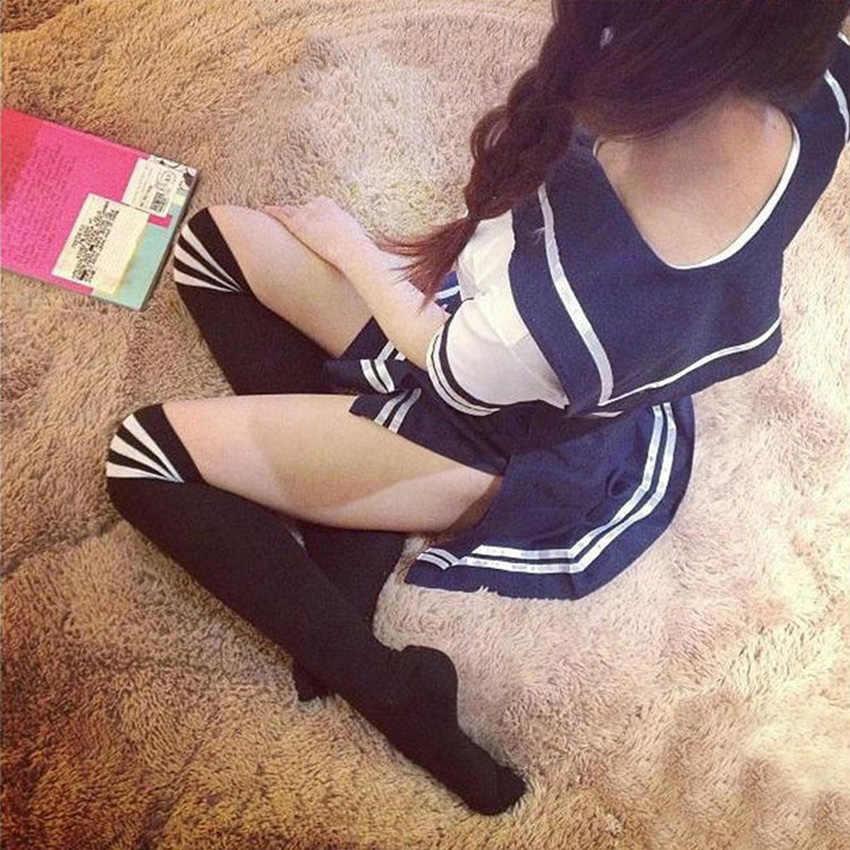 Vrouwen Japanse Sex School Uniformen Mini Rok Hoge School Student Jk Pak Sailor Tube Tops Sexy Lingerie Cosplay Kostuum