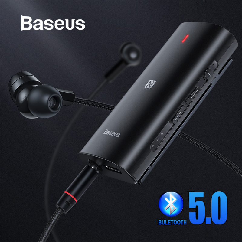 Baseus Bluetooth 5.0 Adapter 3D Stereo Sound Wireless Receiver Type C 3.5mm Jack Earphone ACC/SBC Audio Music Bluetooth Adapter