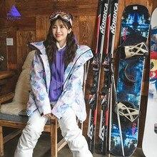цена на Thick Warm Skiing Snow Jacket Winter Warm Waterproof Windproof Skiing and Snowboarding Jackets Women Ski Jacket Brands