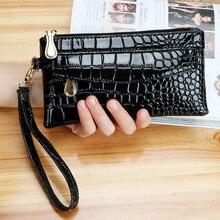 Patent Leather Women's Wallets Fallow Long Ladies Double Zip
