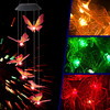 LED Solar Wind Chime Light Butterfly Style Outdoor Waterproof Garden Garland Hanging Lights Christmas Holiday Solar Lamp Decor discount