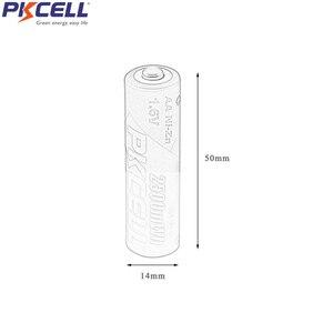 Image 5 - 4 قطعة PKCELL AA قابلة للشحن بطارية 1.6V 1.9v 2500mWh NIZN Batteria شاحن 4 فتحة تهمة 2 فتحة 4 فتحة aa AAA الاتحاد الأوروبي الولايات المتحدة التوصيل