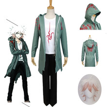 Anime Super Danganronpa Cosplay Nagito Komaeda Uniform Jasje Cosplay Kostuum Halloween Voor Vrouwen Mannen Carnaval Party(China)