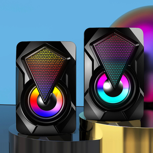 Computer Speaker USB Wired Speakers 3D Stereo Sound Surround Colorful LED Light Loudspeaker For PC Laptop Notebook