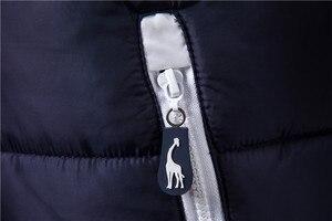 Image 5 - 2019 nowa żyrafa marka kurtka zimowa mężczyźni bluza z kapturem kamizelka mężczyźni zamek mężczyzna kurtka bez rękawów na co dzień zima kamizelka mężczyźni