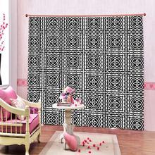 Европейский стиль черно-белая ткань 3d занавес s для гостиной спальни Затемненные окна занавески домашние шторы