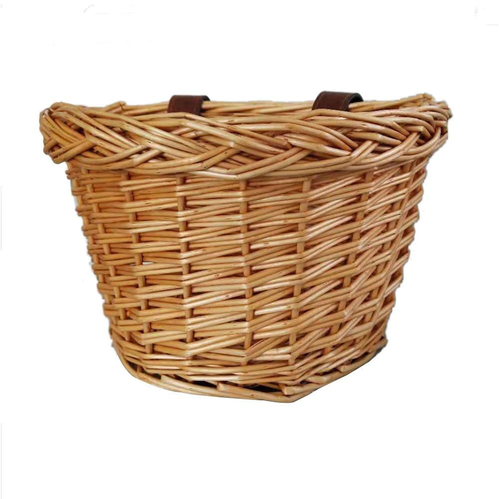 Rattan Storage Basket Children's Bicycle Basket Manual Technology Waterproof No Break