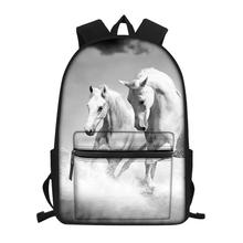 HaoYun Childrens Canvas Backpack Cute Horse Prints Pattern Students School Book Bags Little Kids Fashion Travel Backpacks