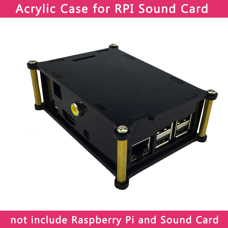 Raspberry Pi 3 Acrylic Case Shell For HIFI DiGi Digital Sound Card Audio Board And Raspberry Pi 3 Model B+/3B/2B