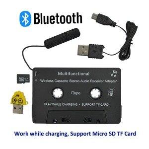 Image 1 - Новейшая модель; Беспроводной iTape CSR V4.0 + EDR Bluetooth адаптер кассеты работать во время зарядки стерео аудио приемник для автомобиля проигрыватель колоды
