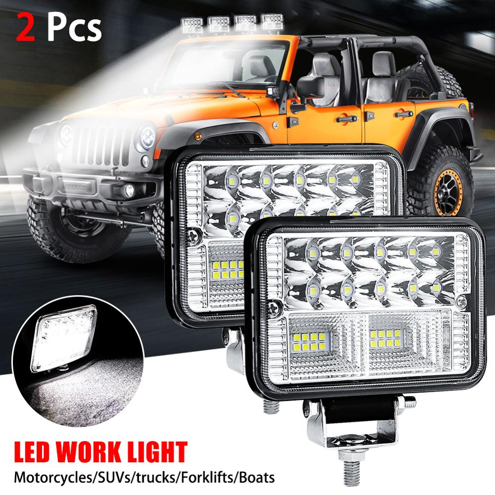 78W Waterproof IP67 Car LED Work Light Bar Driving Lamp For Offroad Boat Tractor Truck SUV Fog Light Headlight For ATV Led Bar