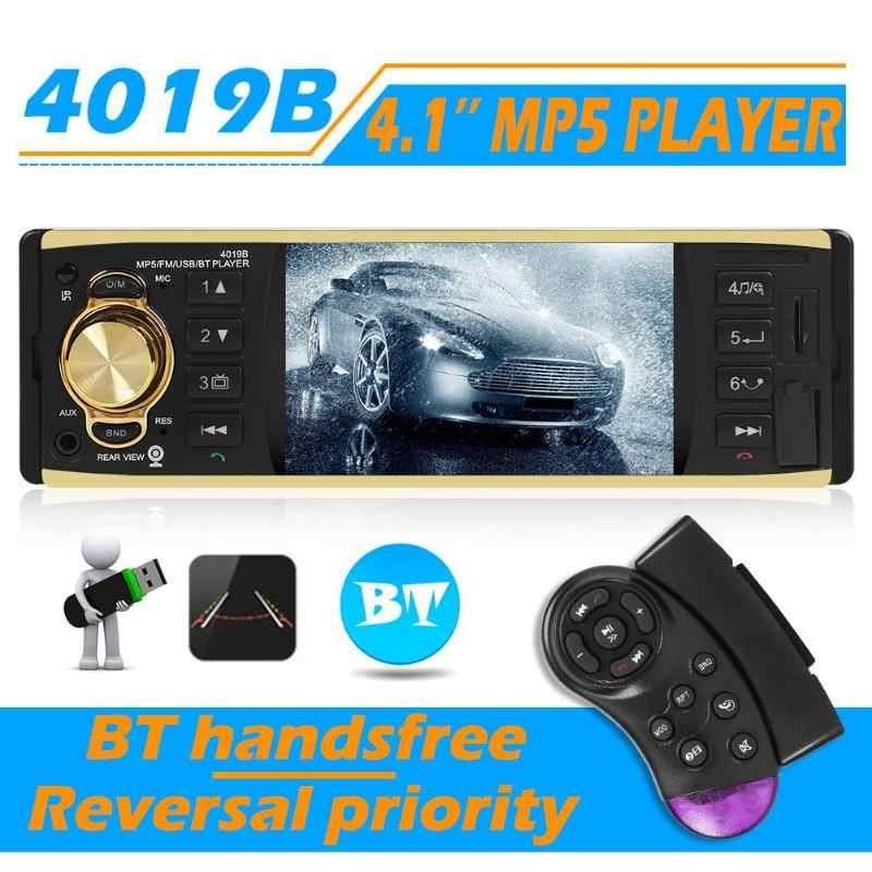 "Vodool 4019B 1din Mobil Radio 4.1 ""Bluetooth Auto Radio Stereo MP5 Player AUX USB FM Kamera Cadangan Auto Audio Mobil pemain Multimedia"