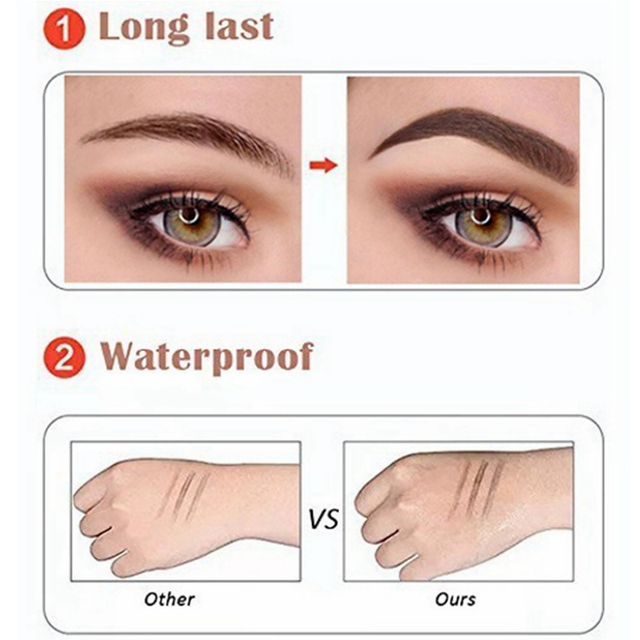 Microblading Eyebrow Pencil Waterproof Fork Tip Brow Eye Pen Long-lasting Professional Fine Sketch Liquid Tattoo Eyebrow Pencil 5