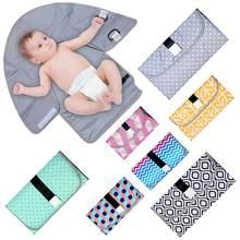 Bebê mudando almofada de viagem portátil lavável bebê mudando esteira à prova dwaterproof água bebê changer fralda almofada chão esteiras colchão conjunto cama