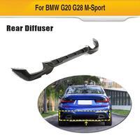Carbon Fiber Rear Bumper Diffuser Lip Spoiler for BMW G20 G28 M-Sport M-Tech 2019 2020 Car Rear Diffuser Lip