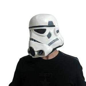 Image 5 - Film Darth Vader Cosplay maske lateks Stormtrooper Darth Vader mandaloryalı kask Kylo Ren fırtına birlikleri kostüm sahne