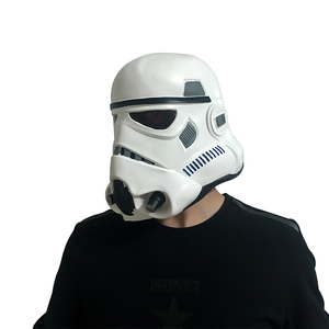 Image 5 - Movie Darth Vader Cosplay Mask Latex Stormtrooper Darth Vader Mandalorian Helmet Kylo Ren The Storm Troops Costume Props