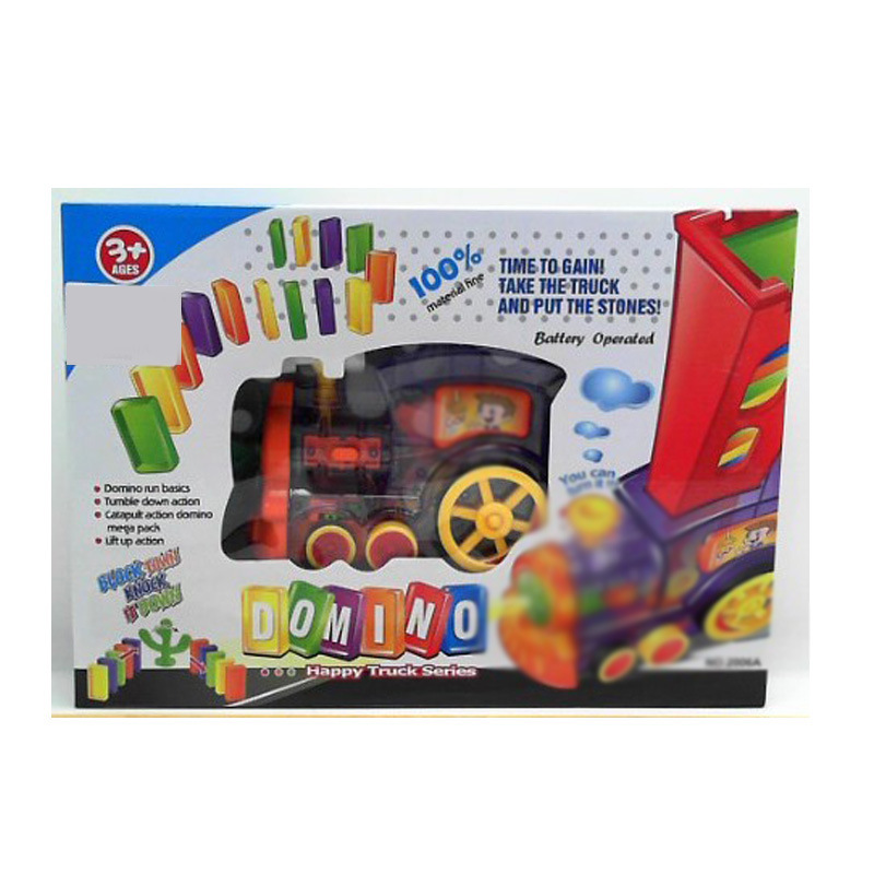 Domino Locomotive Electric Toys Automatic Licensing Domino Building Blocks Small Train CHILDREN'S Toy Car