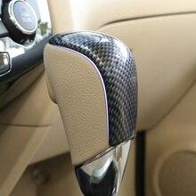 Автомобильная ручка переключения передач из углеродного волокна с блестками, чехол-наклейка для X-trail T32 Rogue Xtrail, аксессуары