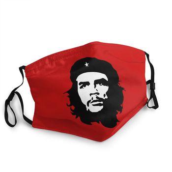 Неодноразовая маска для лица Che Guevara, кубинская революционная маска для защиты лица от пыли и пыли, антидымчатый респиратор 1